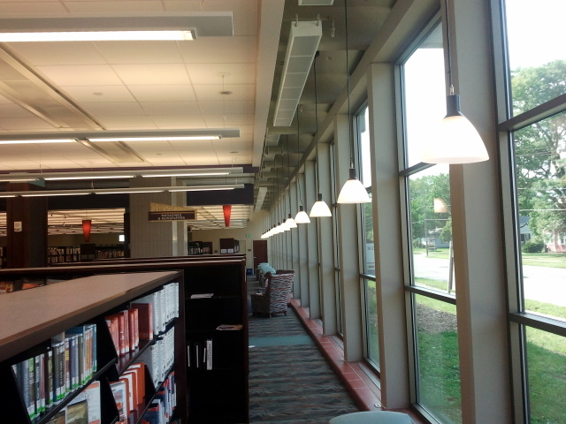 Franklin Avenue Library Glass Facade, Inside View