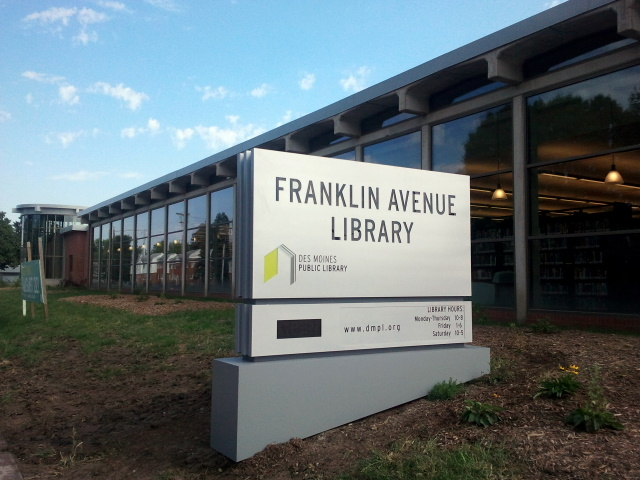 Franklin Avenue Library Sign: Sign at the newly-renovated Franklin Avenue library branch