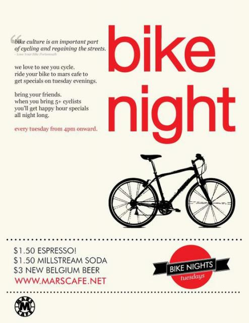 Mars Cafe Bike Night Poster