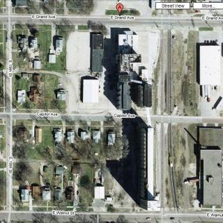East Grand Feed Mill Aerial Photo: Aerial photo of feed mill on East Grand