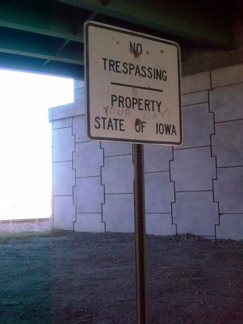 "Property of  ""Your Gay"" State of Iowa"