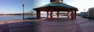 Plaza at the End of the Levee, Port of Dubuque