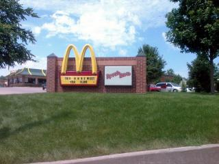 McDonald's built this sign and neighborhood entry monument
