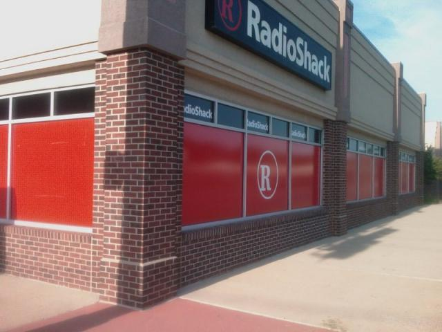 Blank Wall on Radio Shack Store Faces University