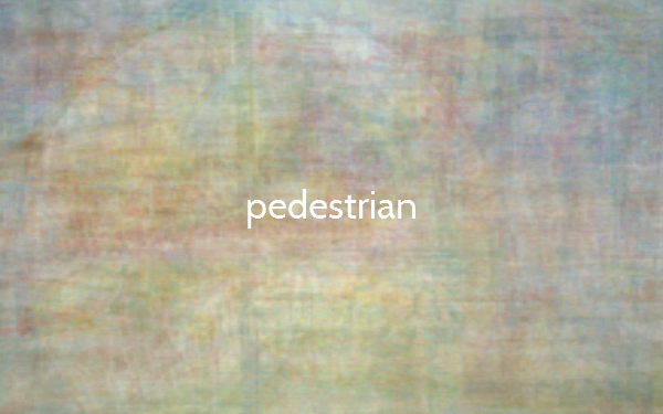 The Color of Pedestrian
